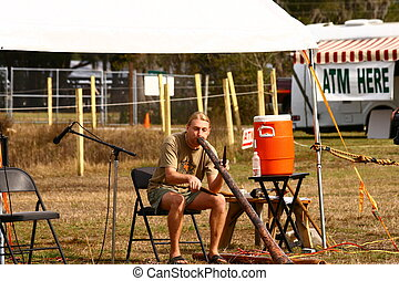 Exotic Flute Player - A flute player at a powwow in Florida...