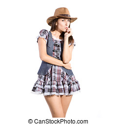 beautiful woman in country dress - very beautiful country...