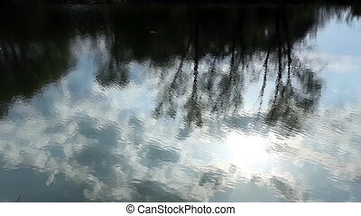 Reflection of clouds in the river