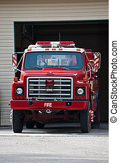 Fire Truck - A fire truck parked and ready to roll