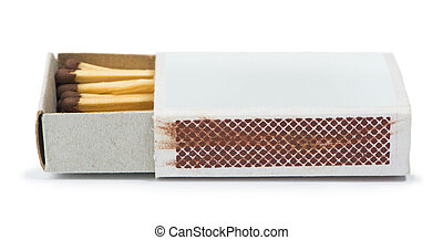 White isolated matches and matchsticks. Studo shot