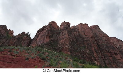 the amazing rock structures in zion national park, utah,...