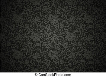 Black Seamless wallpaper pattern