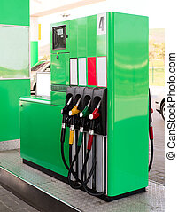 Gasoline pump - Green Gasoline pump on a petrol station