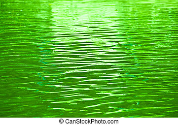 Green water ripple as background.