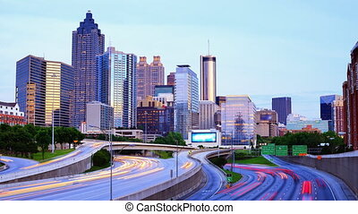 Downtown Atlanta, Georgia - Time lapse of Atlanta, Georgia,...