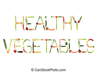 Healthy Vegetables - Vegetable selection spelling the words...