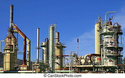 Oil Refinery - An abandoned oil refinery in Ventura...