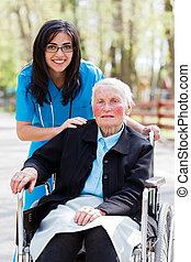Special Care Facility for the Elderly - Kind doctor, nurse...