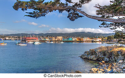 MONTEREY, CA/USA - MAY 16: Historic Monterey Harbor and...