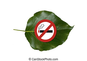 No Smoking - No smoking be green