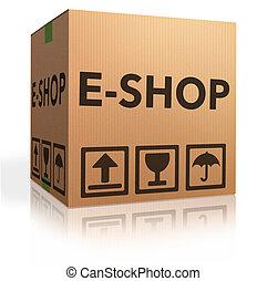 e shop - web e-shop icon online internet shopping concept...