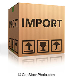 importation - import international and worldwide or global...