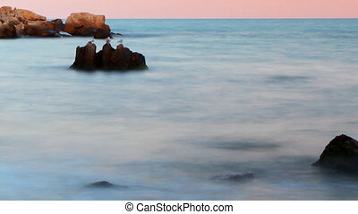 beautiful tranquil shot at sunset, karadere beach, bulgaria,