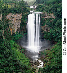 The Karkloof Falls in South Africa's Kwazulu-Natal Province....