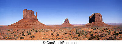 Panoramic view on Monument valley