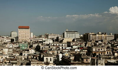 timelapse of the havana skyline, cuba