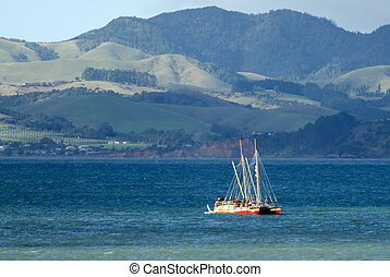 Waka Tapu Historic Voyage Arrived Home - TAIPA,NZ -MAY...