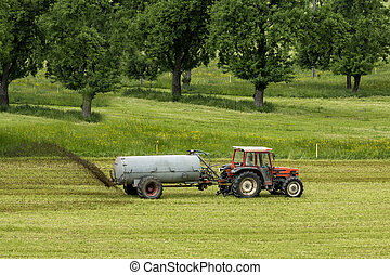 agriculture - tractor dung