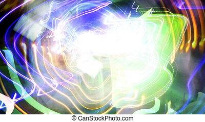 abstract filmed lights, visual loop