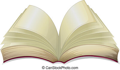 An empty book - Illustration of an empty book on a white...