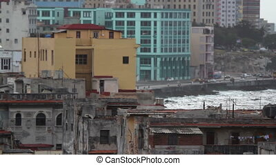 havana skyline shot from a roof terrace, cuba