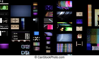 digital animation of hd screens showing film and tv related...