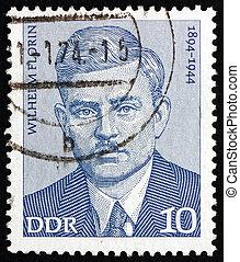 Postage stamp GDR 1974 Wilhelm Florin, Politician - GDR -...