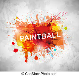 Paintball banner - Colorful paintball banner. Eps 10