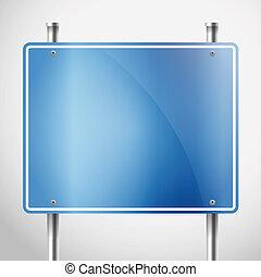 Blank metal information board template