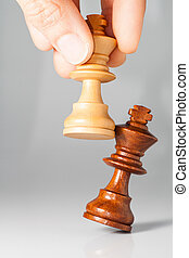 chessmate - photography of chess white king defeating black...