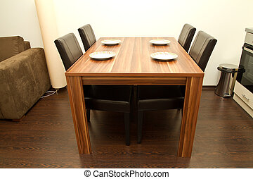 Dining table with four seats