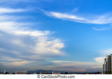 Sky over Pattaya City Thailand, Chonburi, Naklua area