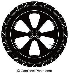 car or truck tire symbol - a car or truck tire symbol.