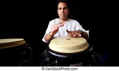 percussion musician performing. CLIP INCLUDES HIGH QUALITY...