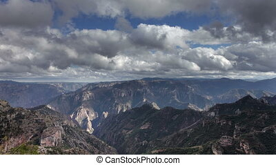 timelapse of the incredible copper canyon Barrancas del...