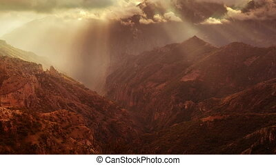 timelapse of the incredible copper canyon (Barrancas del...