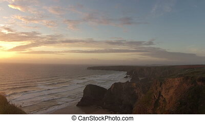 timelapse of the stunning and dramatic coastline at durdle...
