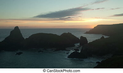 timelapse of the stunning and dramatic coastline at kynance...
