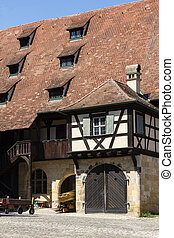 An old house in Bamberg, Germany. - An old house in Bamberg,...