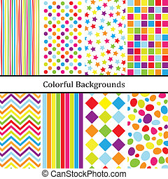 Colorful backgrounds for party