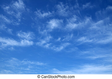 Cirrus - Photo of spring blue sky with beautiful cirrus...