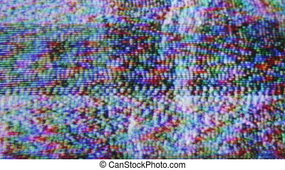 static and electronic noise captured from an old television...