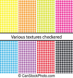 Checkered backgrounds - Colorful checkered backgrounds