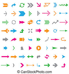 Many arrows -  Many colorful arrows