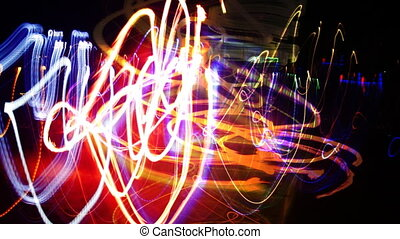 abstract filmed lights, visual loop
