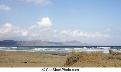 coastal view in crete, greece
