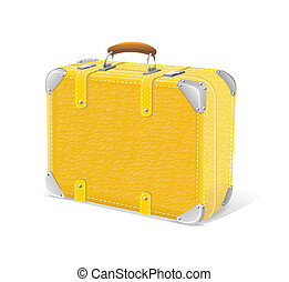 illustration of yellow trawel suitcase