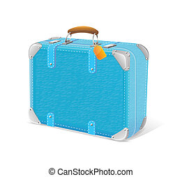 illustration of blue trawel suitcase