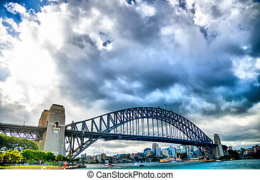 SYDNEY, AUSTRALIA - APRIL 16 Harbour bridge3 on April 16,...